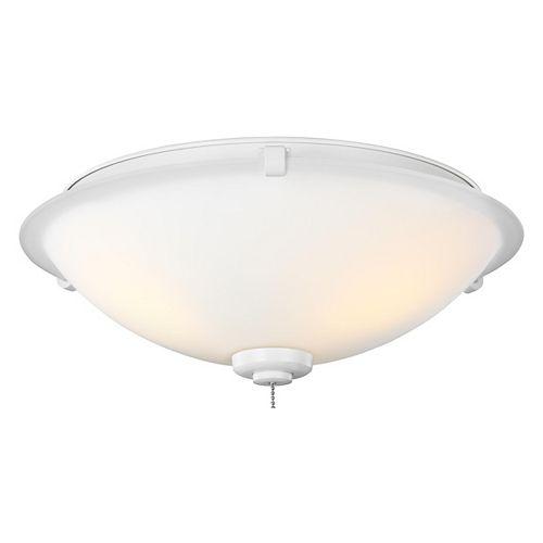 Plafonnier à trois ampoules à DEL, blanc mat