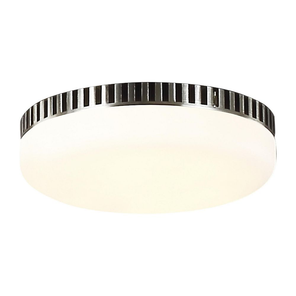 Monte Carlo Fans Monte Carlo Arcade Integrated LED Brushed Steel Ceiling Fan Light Kit