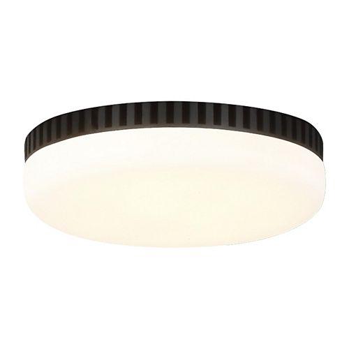 Monte Carlo Arcade Integrated LED Midnight Black Ceiling Fan Light Kit