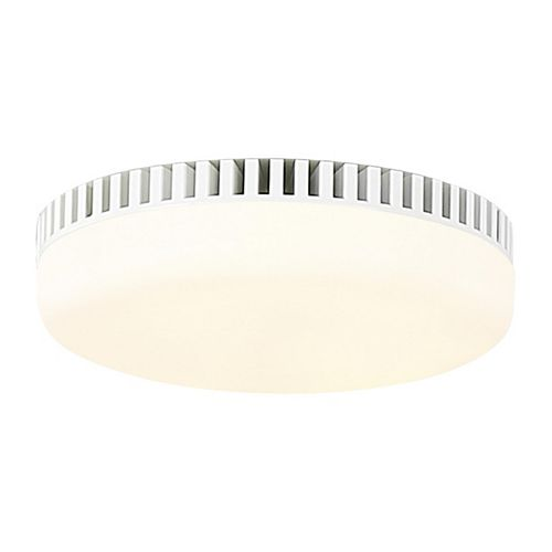 Monte Carlo Arcade Integrated LED Matte White Ceiling Fan Light Kit