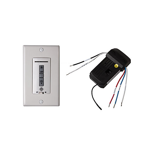 4-Speed Wall-Mount Ceiling Fan Switch and Receiver