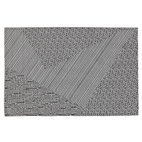 IH Casa Decor Abstract Vinyl Placemat (Gray)- 12 X 18 In. (Set Of 12)