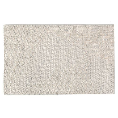 IH Casa Decor Abstract Vinyl Placemat (Natural)- 12 X 18 In. (Set Of 12)