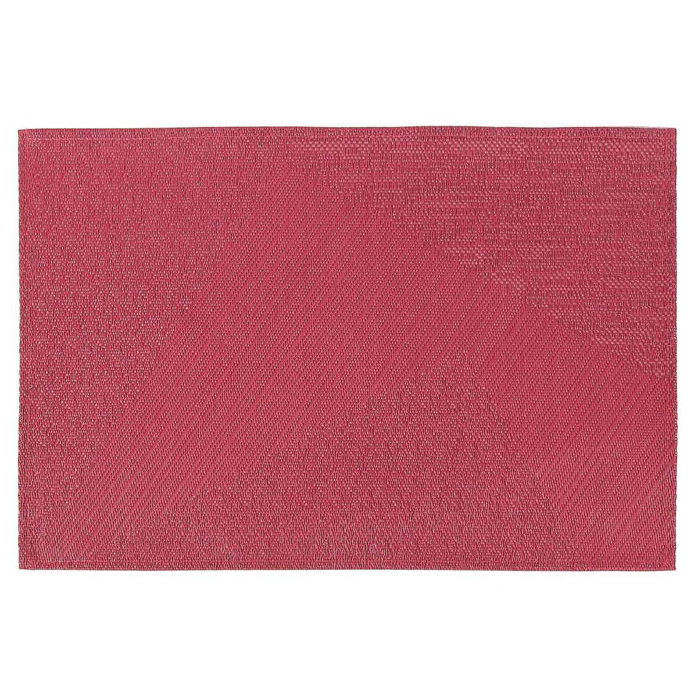 IH Casa Decor Abstract Vinyl Placemat (Red)- 12 X 18 In. (Set Of 12)