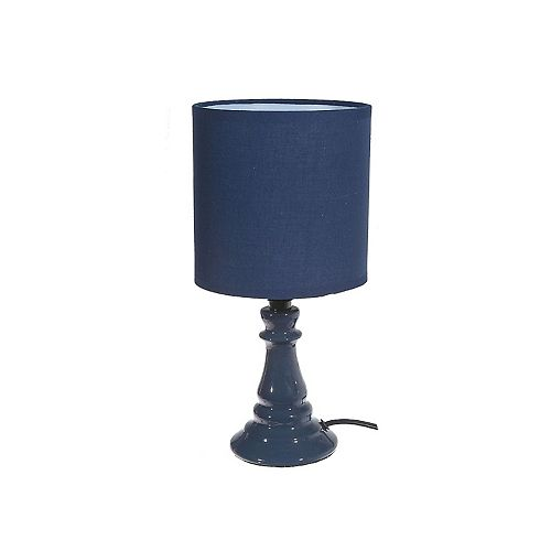 Cadence Ceramic Table Lamp With Shade (Navy Blue) - 6 In. X 12 In.