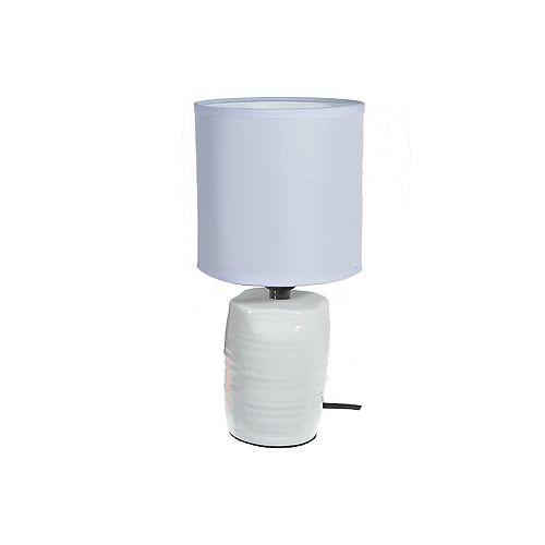 Ceramic Table Lamp With Shade (Abott) (White)