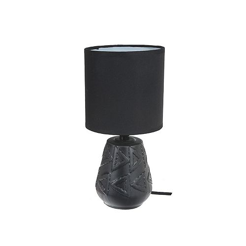 Ceramic Table Lamp With Shade (Windsor) (Black)