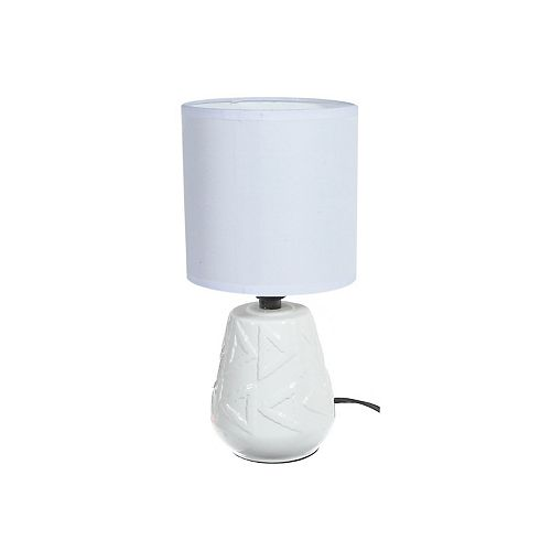 Ceramic Table Lamp With Shade (Windsor) (White)