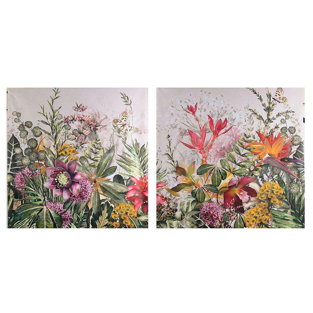 Garden Of Eden Canvas Wall Art W/ Glitter