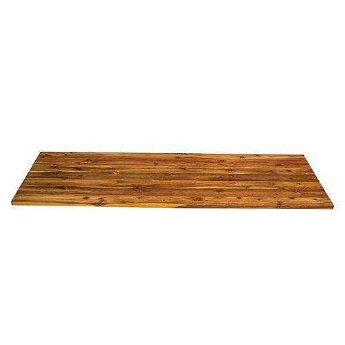 Comptoir de planches larges en acacia 79 x 25 x 1, finition en bois d'huile de cire dure naturelle