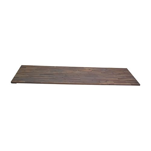 96 inch Acacia Hardwood Countertop, Dusk Grey Food-Safe Hardwax Oil Stain
