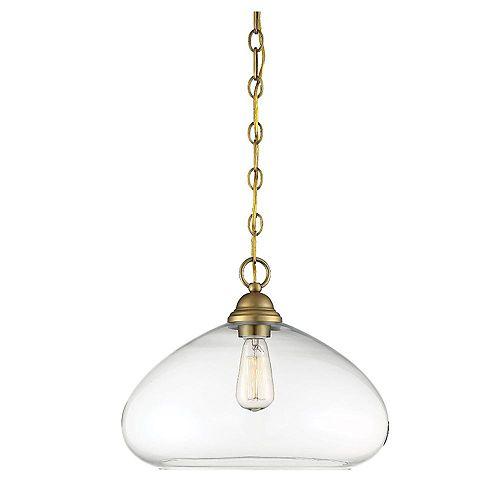 Filament Design Pendentif à une ampoule avec Fini laiton-16 pouces