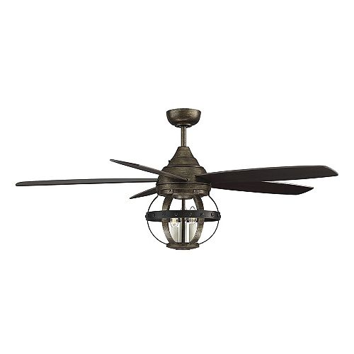 3-Light Reclaimed Wood Ceiling Fan