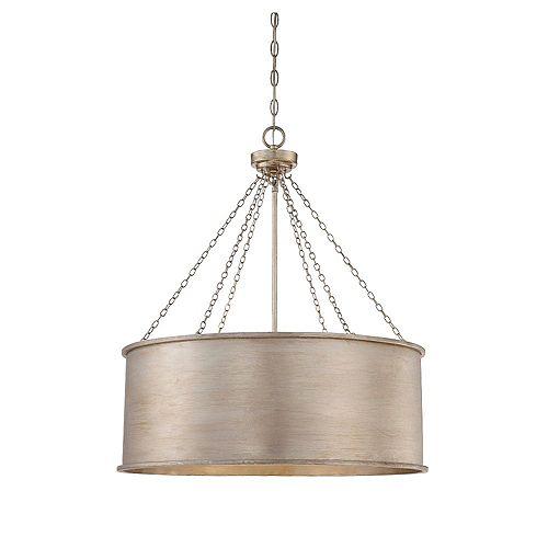 Filament Design 6-Light Silver Patina Pendant- 25 inch