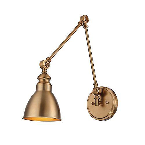 Filament Design 1-Light Warm Brass Sconce- 5.5 inch