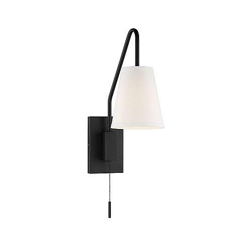 1-Light Matte Black Sconce- 6.125 inch