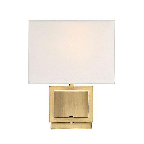 Lumière fixée au mur à une ampoule avec Fini laiton-8 pouces
