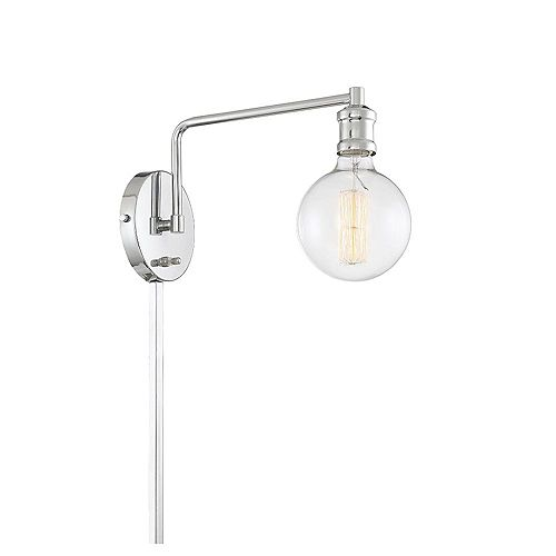 Filament Design 1-Light Chrome Wall Sconce- 5.25 inch