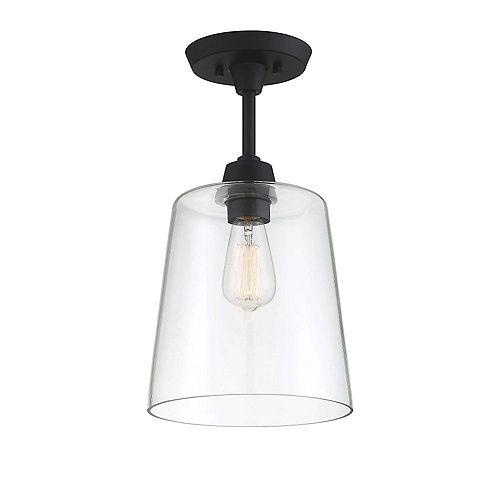 Plafonnier à une ampoule avec Fini noir-9.5 pouces