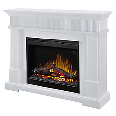 Jean Classic Electric Fireplace in White Finish