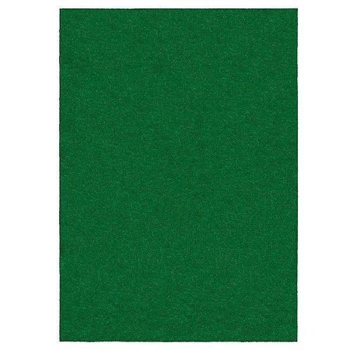 6 ft. x 8 ft. Green Artificial Grass Rug
