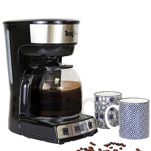 Total Chef 12-Cup Programmable Drip Coffee Maker with Glass Carafe and LCD Display