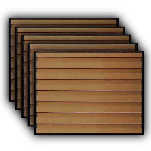 Kit de 5 Panneaux de Clôture Trex Horizons Brun Amande de 6 pieds X 8 pieds
