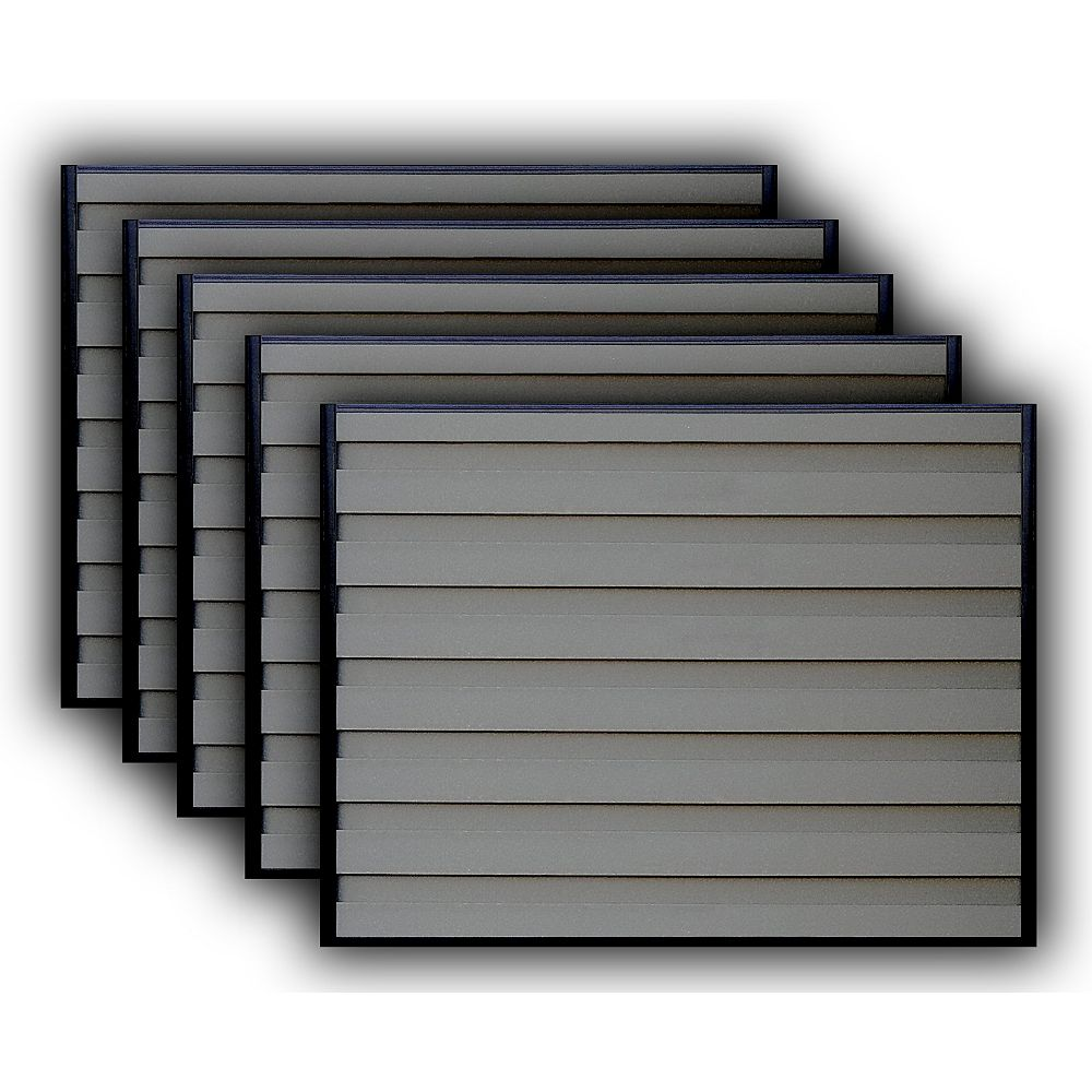 Trex Fencing Kit de 5 Panneaux de Clôture Trex Horizons Brun Amande de 6 pieds X 8 pieds