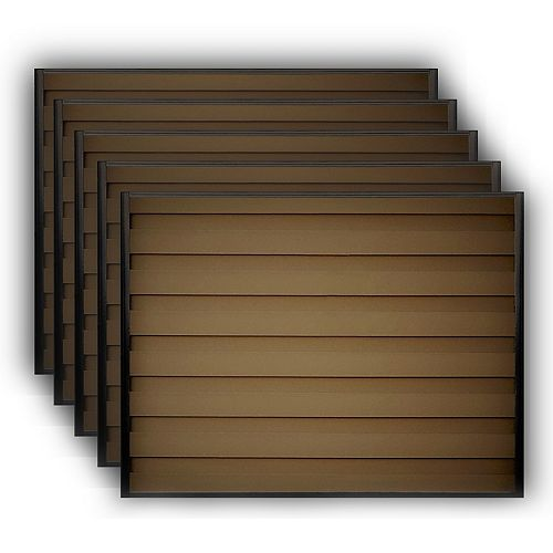 Trex Fencing 6 ft . X 8 ft. Trex Horizons Woodland Brown Fence Panel Kit 5-Pack