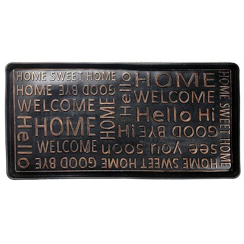 RUBBER BOOT TRAY (WELCOME HOME)