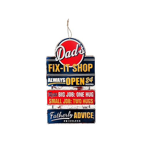 Shaped Iron Wall Sign (Dad'S Fix It Shop)