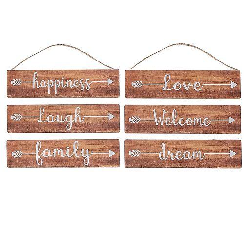 Inspirational Wood Plaques (Arrow English) (Asstd)