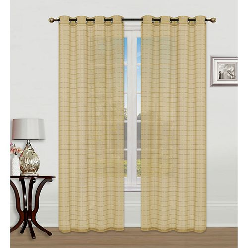 VOILE CHECKERED fenêtre Panneau W GROM (GOLD)