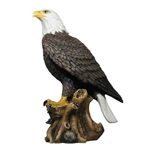 """Polyresin Standing Eagle (16.75"""")"""