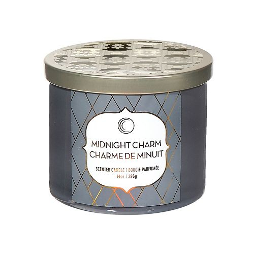 14 Oz 3 Wick Jar Candle With Lid (Midnight Charm)