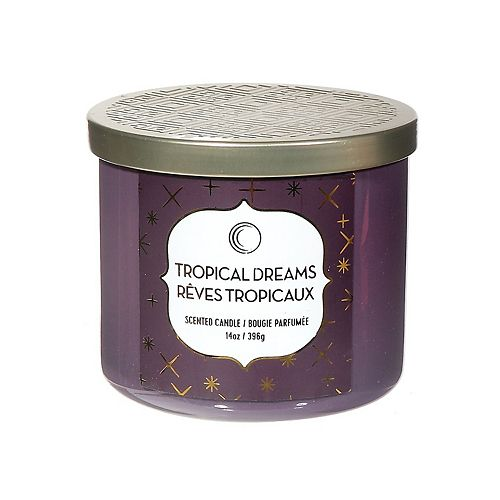 14 Oz 3 Wick Jar Candle With Lid (Tropical Dreams)