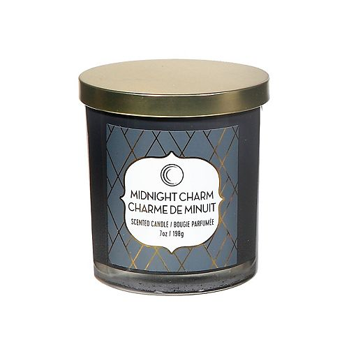 7 Oz Scented Jar Candle With Lid (Midnight Charm)