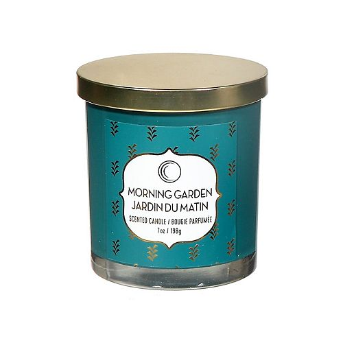 7 Oz Scented Jar Candle With Lid (Morning Garden)