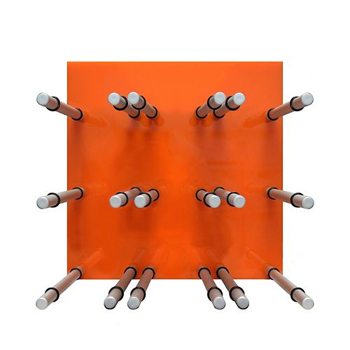 Vinotemp 9 Bottle Acrylic Peg Wine Racks (Orange)