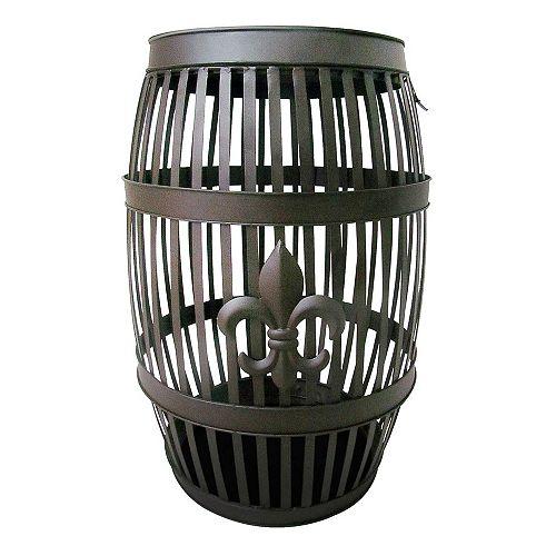 Vinotemp Fleur De Lis Barrel Table