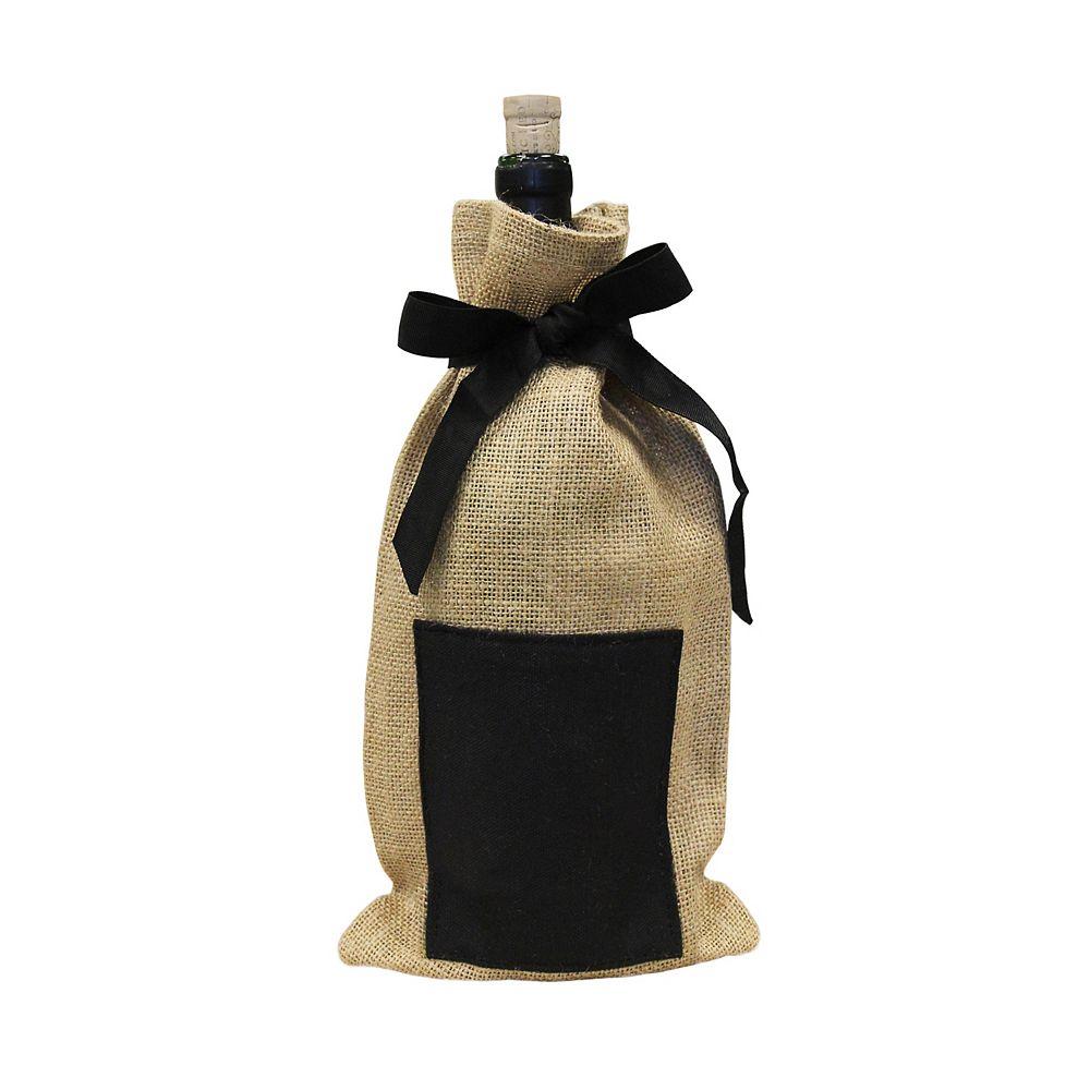 Vinotemp Jute Chalkboard Wine Bag (Pack Of 4)