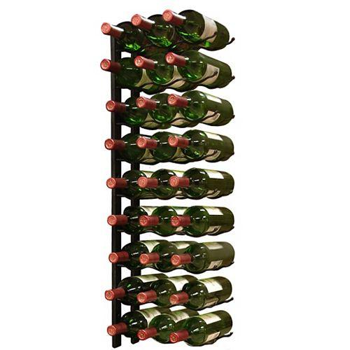 27-Bottle Epic Metal Wine Rack (Black)