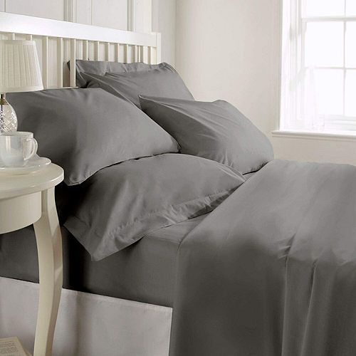 Luxury Hotel Collection 1200TC 100% Pure Cotton Soft Long-Lasting Sheet Set Queen