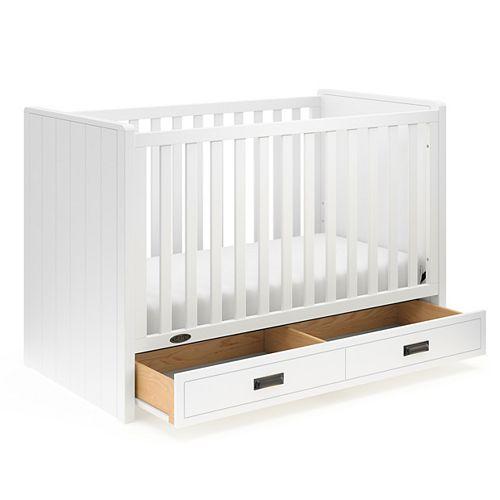 Lit de bébé 3-en-1 avec tiroir Cottage de Graco Blac