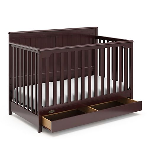 Hadley Espresso 4-in-1 Convertible Crib with Drawer