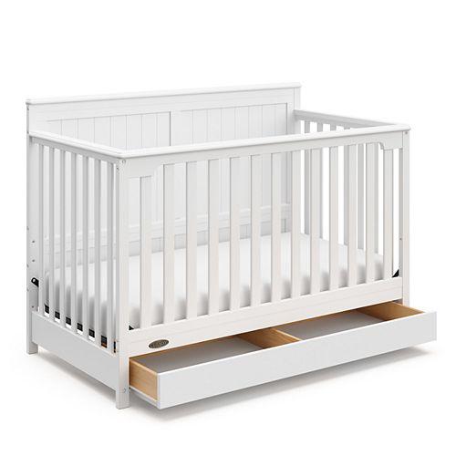 Lit de bébé 4-en-1 avec tiroir Hadley de Graco Gris galet