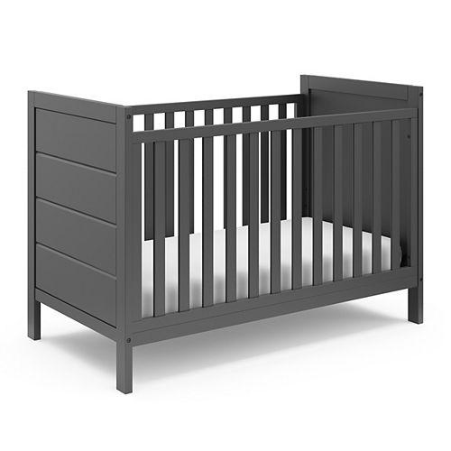 Nestling Grey 3-in-1 Convertible Crib