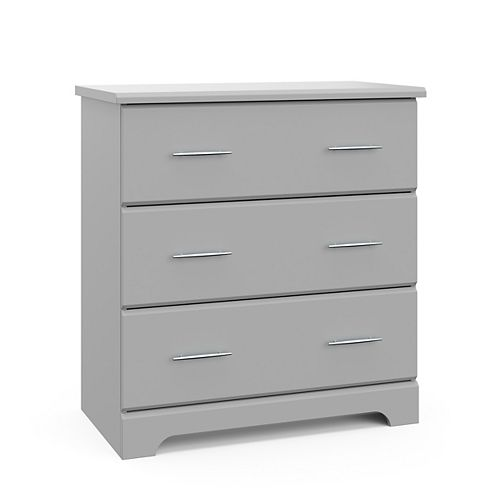 Brookside 3-Drawer Chest in Pebble Gray