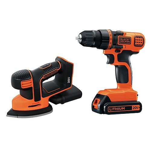 20V Max Lithium-Ion Cordless Drill/Driver and MOUSE Sander Combo Kit (2-Tool) with 1.5 Ah Battery and Charger