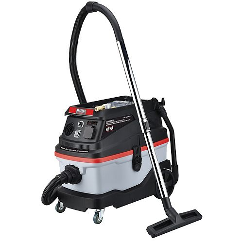 King Industrial 8 Gallon tool triggered wet/dry vacuum
